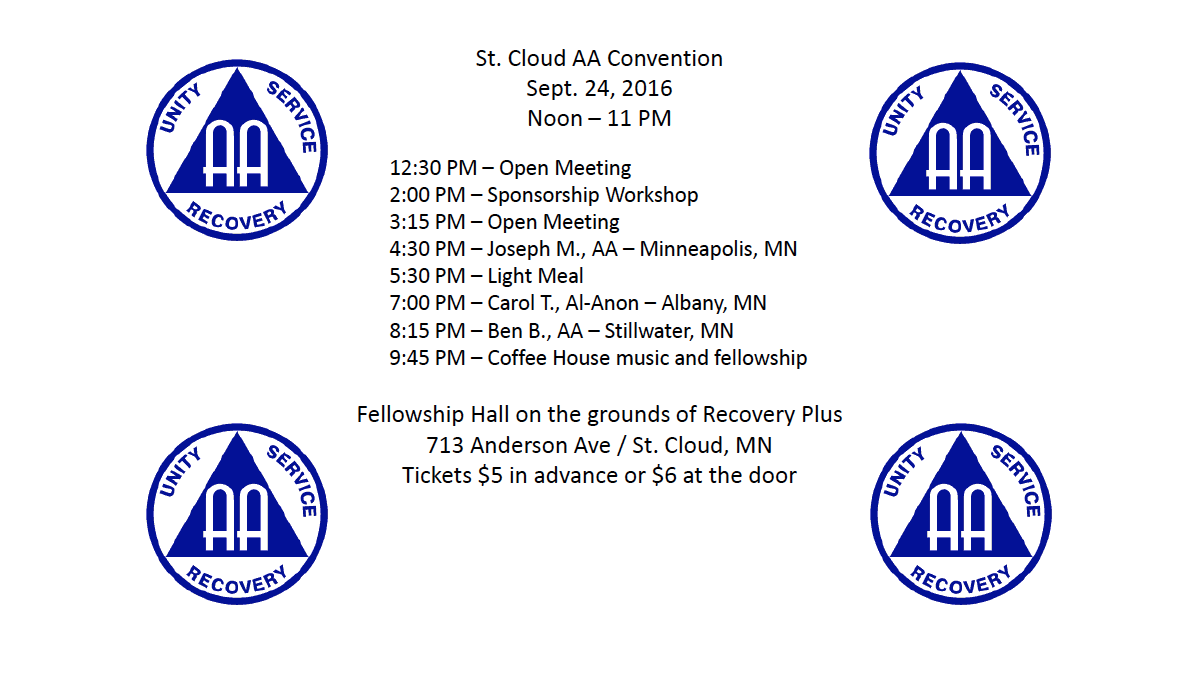 St Cloud Aa Convention Minnesota Recovery Connection