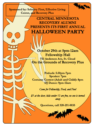 Halloween Party Minnesota Recovery Connection