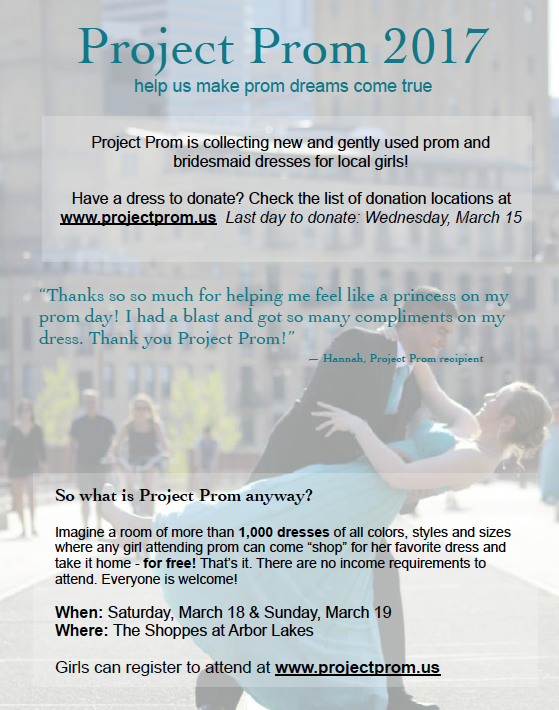 Project Prom 2017 Minnesota Recovery Connection