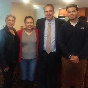 Sheriff Fletcher with Carmen Robles and 2 young adults