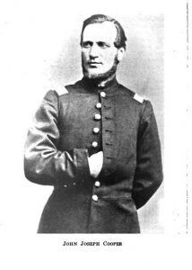 Black and white picture of a man in uniform from the Civil War Era.