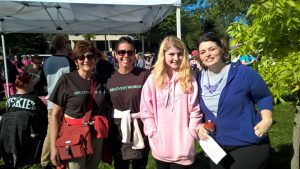 4 women smiling at the 2015 Walk for Recovery